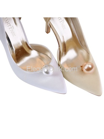 CH Women 2 Pcs Shoe Clips Round Pearl Ball Design Wedding Party Decoration Gift