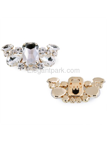CL Shoe Clips Diamante Butterfly Shaped Design Rhinestones Wedding Evening Prom Party Decoration