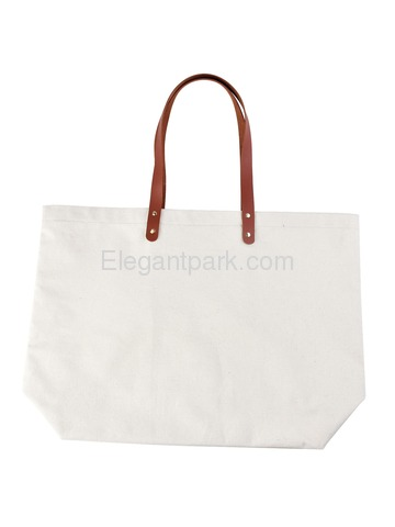 ElegantPark Reusable Tote Travel Luggage Shopping Bag with Interior Pocket 100% Cotton, Letter F