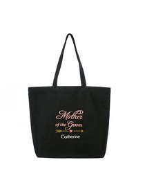 PERSONALIZED Pink Embroidered Mother of the Groom Tote Wedding Bachelorette Party Gift Monogram Blac