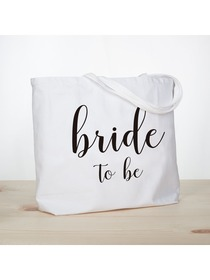 ElegantPark Bride to Be Jumbo Tote Bag Wedding Bridal Shower Gifts Canvas 100% Cotton Interior Pocke