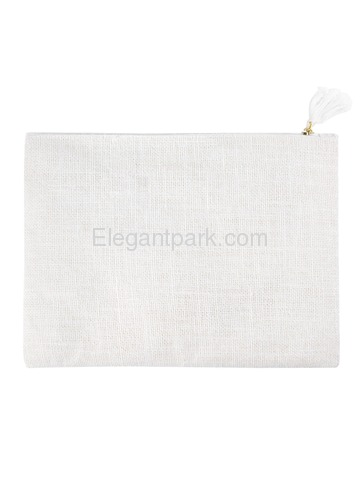 ElegantPark Mother of the Groom Clutch Bag Wedding Party Favors Gift Handbag Zip White with Gold Scr