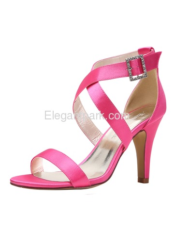 ElegantPark HP1818 High Heels Pumps Cross Satin Wedding Evening Dress Sandal Shoes (HP1818)