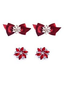 ElegantPark 2 Pairs Combination Women Wedding Accessories CQ+AJ Red Shoes clips