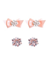 ElegantPark 2 Pairs Combination Women Wedding Accessories CQ+AJ Pink Shoes clips