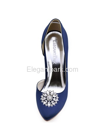 ElegantPark 2 Pairs Combination Women Wedding Accessories BD+BQ Sliver Shoes clips