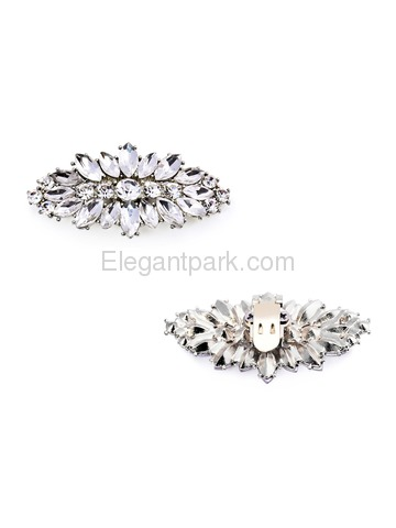 ElegantPark 2 Pairs Combination Women Wedding Accessories BF+AW Sliver Shoes clips